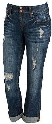 Vigoss® roll-cuff boyfriend jeans