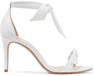 Alexandre Birman - Clarita Bow-embellished Leather Sandals - White $595 thestylecure.com