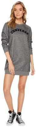 Converse Long Sleeve Sweatshirt Dress Women's Dress