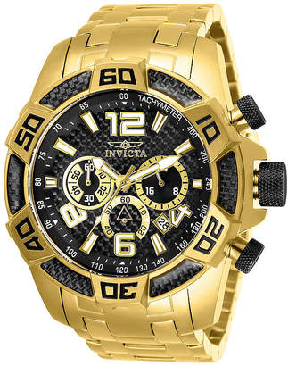 Invicta Pro Diver Mens Chronograph Gold Tone Stainless Steel Bracelet Watch-25853