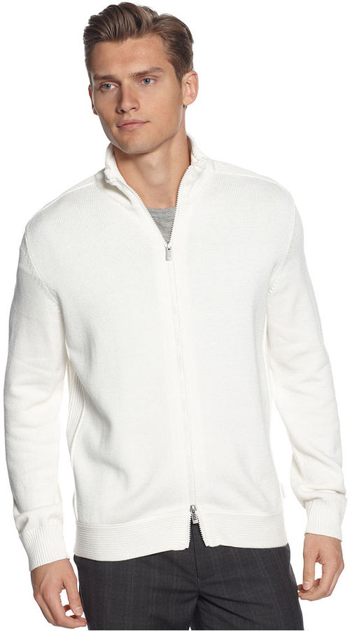 Calvin Klein Sweaters, Macy's Holiday Exclusive Ribbed Full Zip Sweater