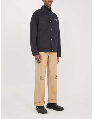 Fred Perry Graphic-print cotton-twill jacket
