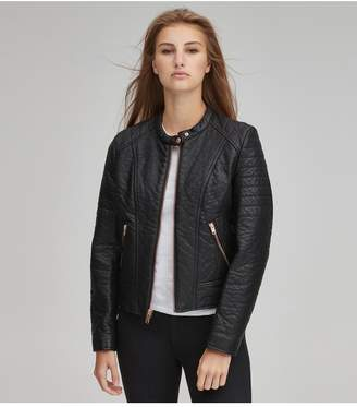 Andrew Marc Blakely Faux Leather Moto Jacket