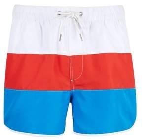 36bafeda55 Burton Mens Red Retro Stripe Short Runner Swim Shorts