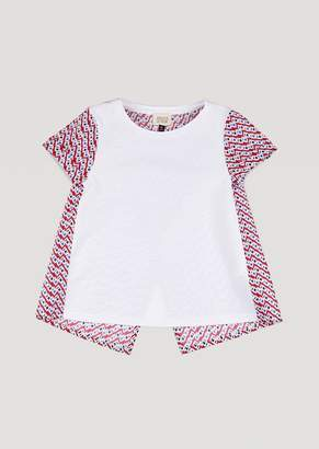 Armani Junior T-Shirt With Patterned Back