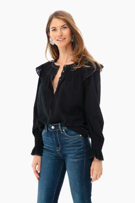 Rebecca Taylor La Vie by Long Sleeve Smocked Top