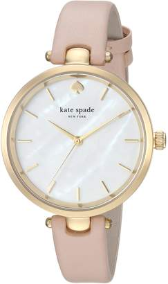 Kate Spade Women's KSW1281 Holland Analog Display Japanese Quartz Beige Watch