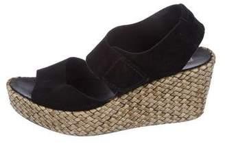 Pedro Garcia Suede Platform Wedge Sandals