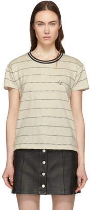 Rag & Bone Off-White Julien Striped T-Shirt
