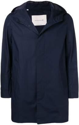 MACKINTOSH Navy Cotton Storm System Hooded Coat