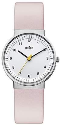 Braun Women's BN0031WHLPKL Classic Pink Analog Display Japanese Quartz Pink Watch