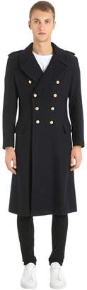 Kent & Curwen Double Breasted Military Wool Coat