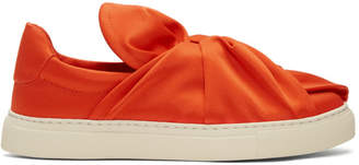 Ports 1961 Red Satin Bow Slip-On Sneakers