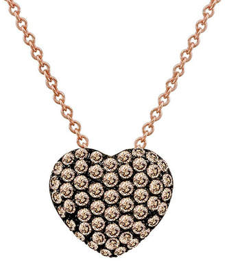 LeVian Le Vian 14K Rose Gold .48 Ct. Tw. Diamond Heart Necklace