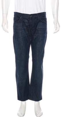7 For All Mankind Straight-Leg Cropped Jeans