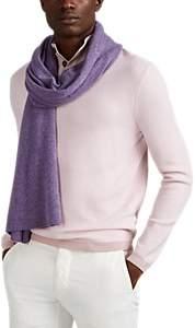 Barneys New York Men's Cashmere Scarf - Purple