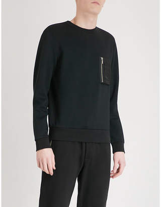 The Kooples Pocket-detail jersey sweatshirt