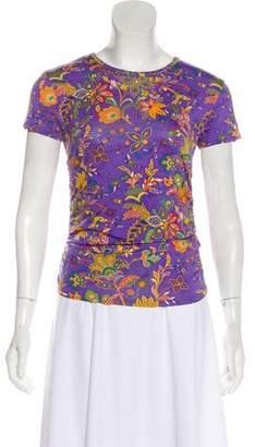 Ralph Lauren Purple Label Silk Printed Top