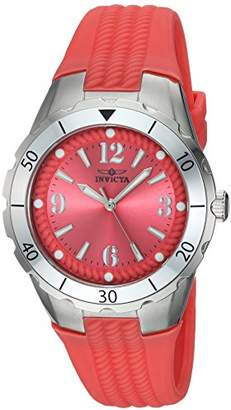 Invicta Women's 'Angel' Quartz Stainless Steel and Polyurethane Casual Watch
