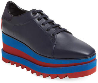 Stella McCartney Elyse Leather Platform Oxford