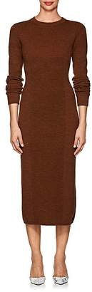 Victoria Beckham Women's Multi-Knit Wool Fitted Dress