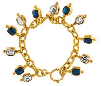 Chanel Crystal Charm Bracelet