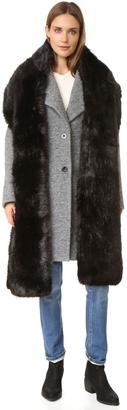 Carven Faux Fur Scarf $190 thestylecure.com