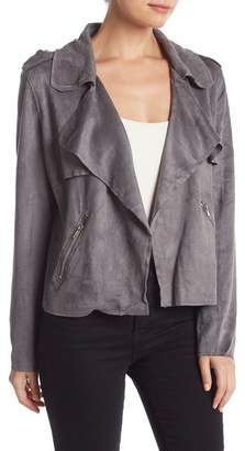 Do & Be Do + Be Faux Suede Drape Front Jacket