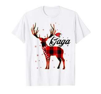 Gaga Reindeer Plaid Pajama Shirt Matching Family Christmas
