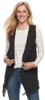 Sonoma Goods For Life Petite SONOMA Goods for Life Cable Knit Fringe Vest