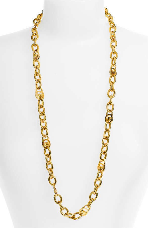Michael Kors Long Logo Link Necklace