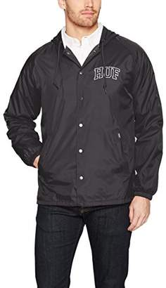 HUF Men's Arch Block Hooded Coach JKT