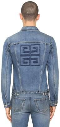 Givenchy 4g Logo Embroidered Vintage Denim Jacket