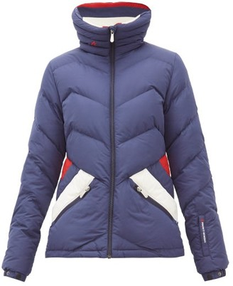 Perfect Moment Apres Duvet Down Filled Ski Jacket - Womens - Navy