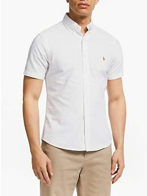 Ralph Lauren Polo Cotton Twill Short Sleeve Shirt, White