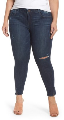 Plus Size Women's Wit & Wisdom Twisted Seam Ankle Skimmer Jeans $78 thestylecure.com