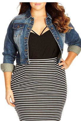 City Chic Classic Crop Denim Jacket $89 thestylecure.com
