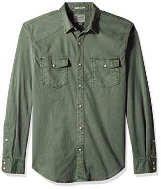 Lucky Brand Men's Long Sleeve Button UP Workwear Western Shirt