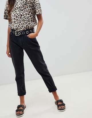 Pull&Bear classic straight leg jean in black