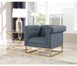 Chic Home Gloria Accent Club Chair Button Tufted Linen-Textured Plush Cushion