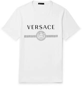 3360c44e Versace Slim-Fit Logo-Print Cotton-Jersey T-Shirt