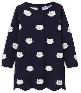 Jacadi Girls' Cat Motif Knit Dress - Baby