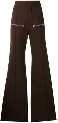 Chloé zip-detail flared trousers