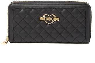 Love Moschino Superquilt Zip Around Wallet
