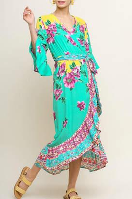 Umgee USA Floral Midi Wrap