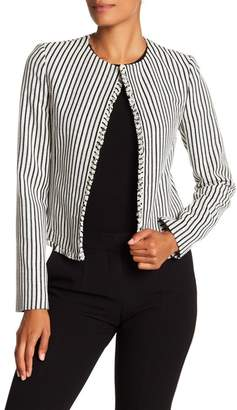 BOSS Komina Stripe Bouclé Suit Jacket