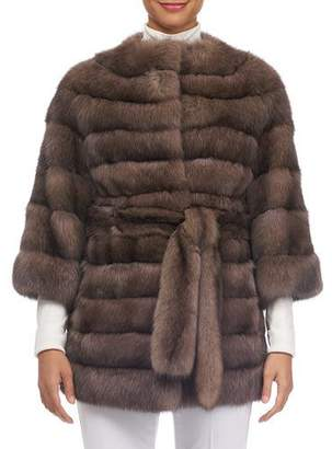 Gorski Barguzine Horizontal Sable Fur Stroller Coat