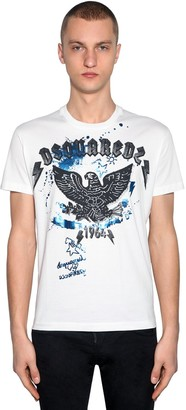 DSQUARED2 Printed Cotton Jersey T-shirt