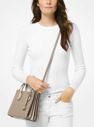 MICHAEL Michael Kors Mercer Pebbled Leather Accordion Crossbody