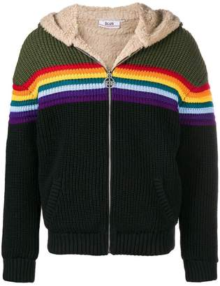 Gcds rainbow stripe hooded jacket